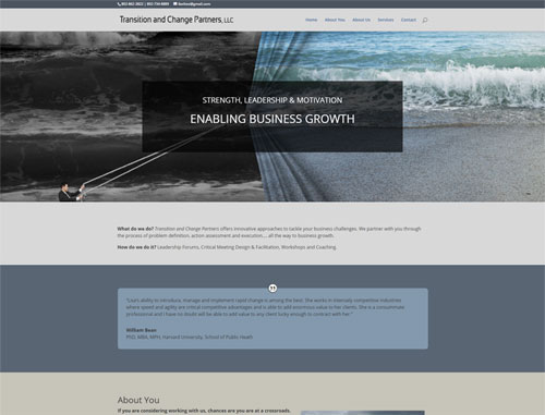Transition in Change Website