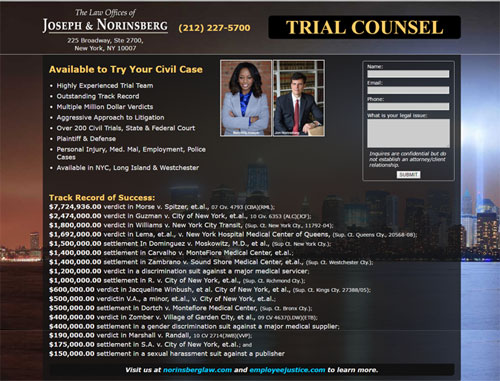 Trial Counsel Legal Website