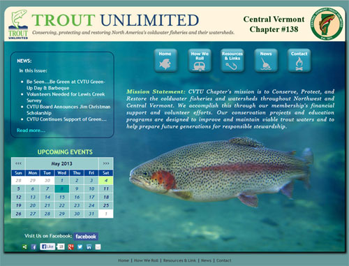 Trout Unlimitted VT Website
