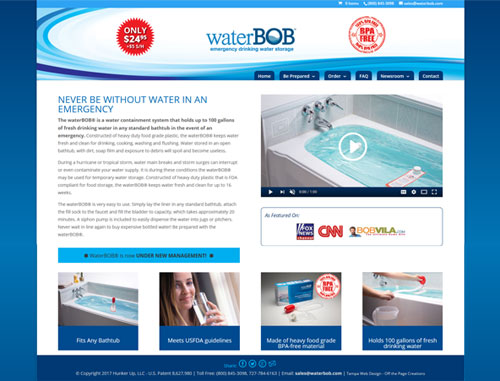 WaterBob Website