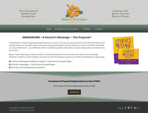 A Parent's Message Program Website