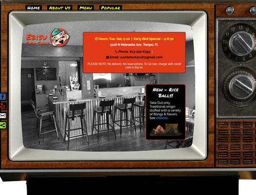Ebisu Sushi Shack Restaurant Website