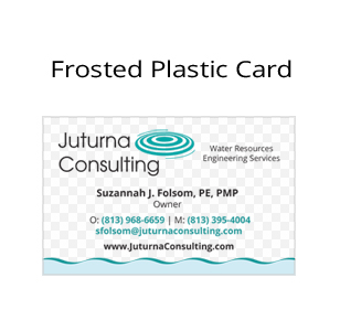 Juturna Plastic Frosted Business cards