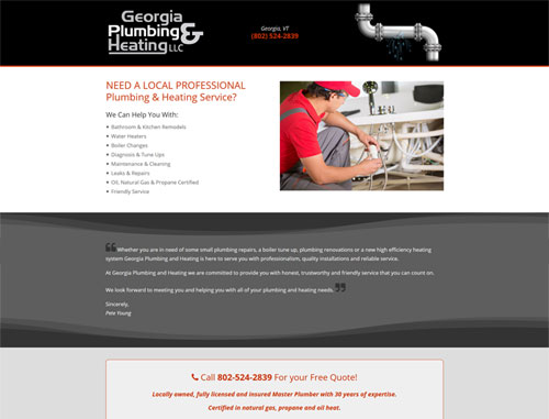 Georgia Plumbing and Heating Website