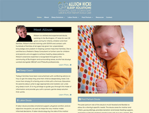 Allison Hicks Doula Website
