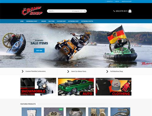 The Crank Shop Ecommerce Website