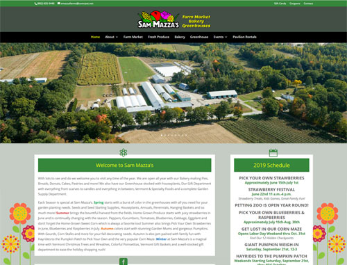 Sam Mazza Farms Website
