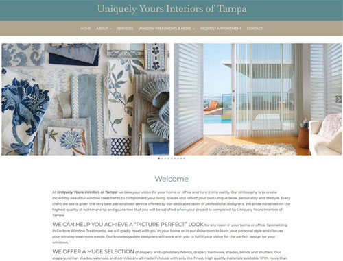 Uniquely Yours Interiors of Tampa Website