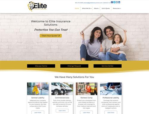 Elite Insurance Website