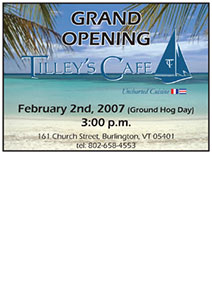 Tilleys Postcard Design