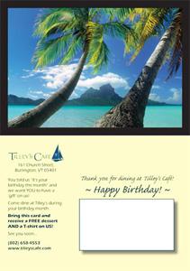 Tilleys Restaurant Postcard Design