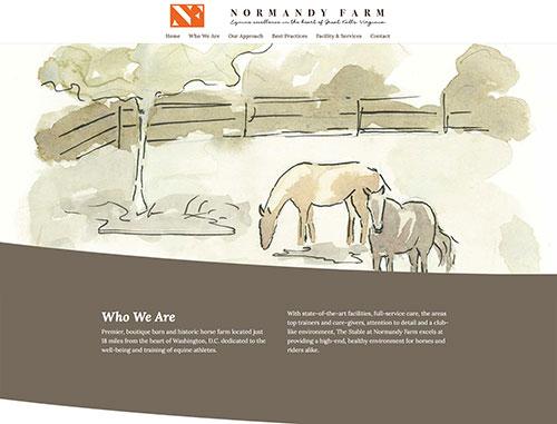 Normandy Farm Horse Boarding Website