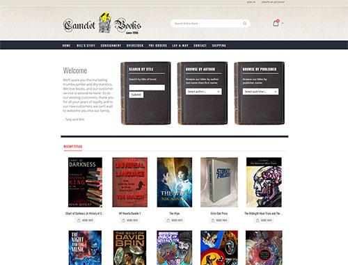 Camelot Books Magento Ecommerce Website