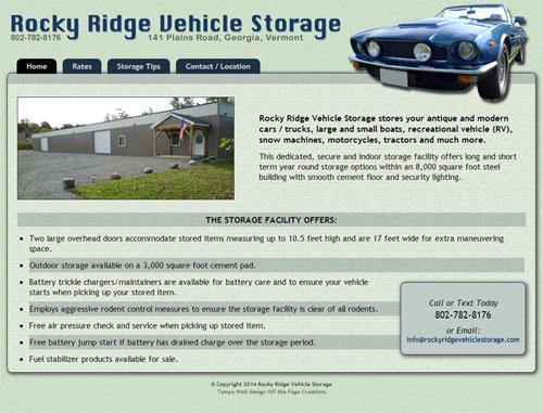 Rocky Ridge Vehicle Storage Website